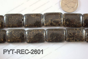 Pyrite Turquoise Composite Rectangle 28x26mm PYT-REC-2601