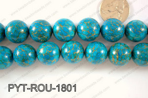 Pyrite Turquoise Composite Round 18mm PYT-ROU-1801