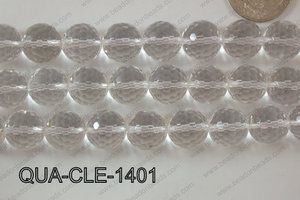 Clear Quartz Round Faceted 14mm QUA-CLE-1401