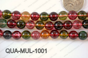 Multicolor Quartz Round 10mm QUA-MUL-1001