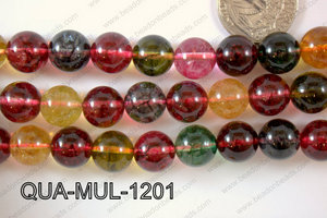 Multicolor Quartz Round 12mm QUA-MUL-1201
