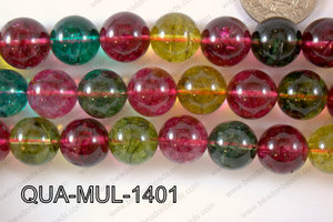 Multicolor Quartz Round 14mm QUA-MUL-1401