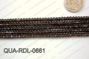Smoky Quartz Rondel 6mm QUA-RDL-0661