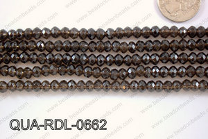 Smoky Quartz Rondel Faceted 6mm QUA-RDL-0662