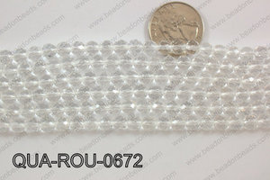 Quartz Round Faceted 6mm QUA-ROU-0672