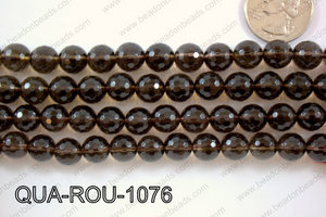 Smoky Quartz Round Faceted 10mm QUA-ROU-1076