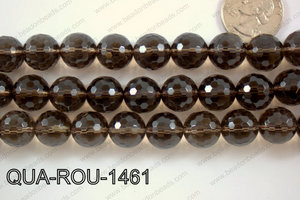 Smoky Quartz Round Faceted 14mm QUA-ROU-1461