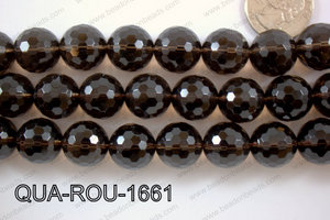 Smoky Quartz Round Faceted 16mm QUA-ROU-1661