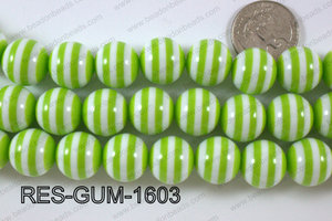 Bubble Gum Bead 16mm RES-GUM-1603