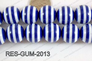 Resin gumball 20mm dark blue RES-GUM-2013