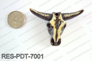 Resin ox head pendant 50x70mm  RES-PDT-7001