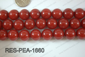 Resin Pearl Round 16mm RedRES-PEA-1660