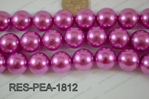 Resin Pearl Round 17mm Dark Pink RES-PEA-1812