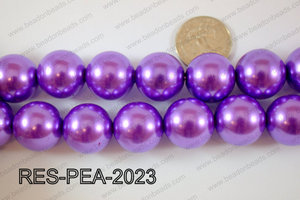 Resin Pearl Round 20mm Blue RES-PEA-2023