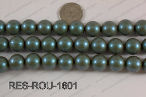 Resin round satin 16mm Teal RES-ROU-1601