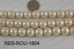 Resin round satin 16mm cream RES-ROU-1604