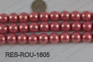 Resin round satin 16mm peach RES-ROU-1605