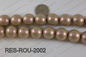 Resin round satin 20mm beige RES-ROU-2002