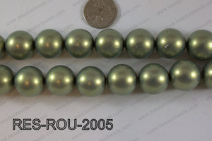 Resin round satin 20mm green RES-ROU-2005