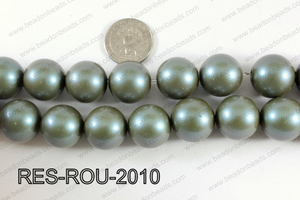 Resin round satin 20mm teal RES-ROU-2010