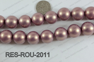 Resin Round Satin Finish Peach 20mm RES-ROU-2011