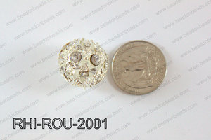Rhinestone ball Round 20mm Light silver RHI-ROU-2001