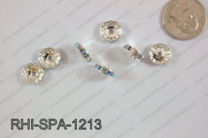 Rhinestone Spacers 12mm RHI-SPA-1213 silver/ AB