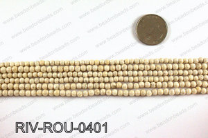 Riverstone fossil beads 4mm RIV-ROU-0401