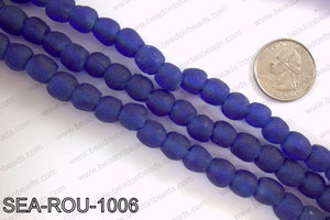 Sea glass beads 10mm SEA-ROU-1006