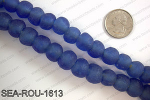 Sea glass beads 16mm SEA-ROU-1613