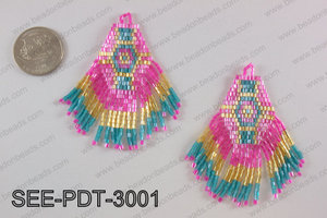 Seed bead pendant 80mm SEE-PDT-3001