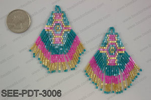 Seed bead pendant 80mm SEE-PDT-3006