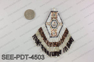 Seed bead pendant 110mm SEE-PDT-4503