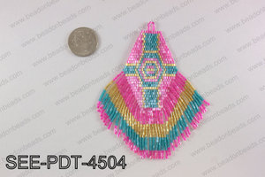 Seed bead pendant 110mm SEE-PDT-4504