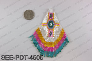 Seed bead pendant 110mm SEE-PDT-4505