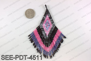 Seed bead pendant 110mm SEE-PDT-4511