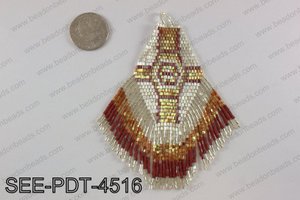 Seed bead pendant 110mm SEE-PDT-4516