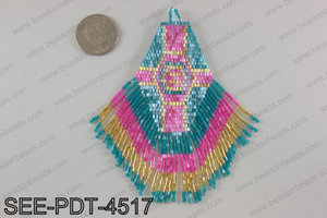 Seed bead pendant 110mm SEE-PDT-4517