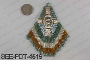 Seed bead pendant 110mm SEE-PDT-4518