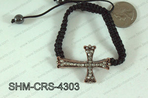 Cross Shamballa Bracelet Copper 43x31mm SHM-CRS-4303