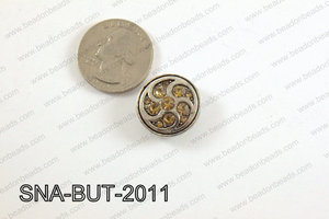 snap button 20 mm brown round SNA-BUT-2011