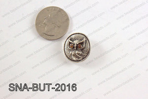 snap button 20 mm brown owl round SNA-BUT-2016