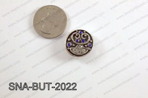 snap button 20 mm blue round SNA-BUT-2022