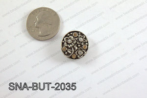 snap button 20 mm brown round SNA-BUT-2035