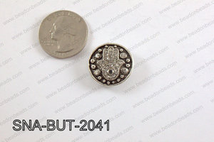 snap button 20 mm clear hamsa round SNA-BUT-2041