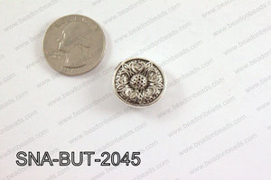 snap button 20 mm metal flower round SNA-BUT-2045