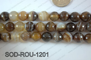 Sardonyx Round Faceted 12mm SOD-ROU-1201