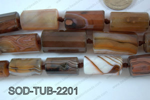 Sardonyx Tube Faceted 15x22mm SOD-TUB-2201