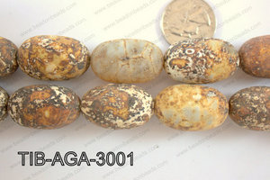 Tibetan Agate Rice 26mm TIB-AGA-3001