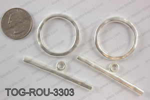 Toggle round 33mm, matte silverTOG-ROU-3303